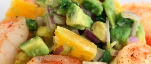 Shrimp Tostadas with Avocado Salsa | Game Day Eats | Pinterest