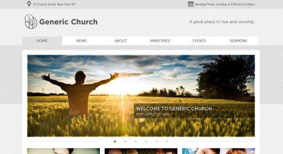 60 of the best church website designs - Church Website Design Ideas