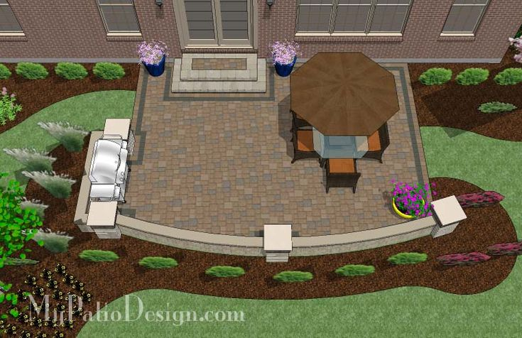 Back Yard Patio Design Idea