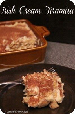 Irish Cream Tiramisu | Cooking In Stilettos http://cookinginstilettos ...