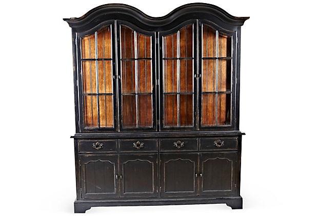 black rustic china cabinet. Black Bedroom Furniture Sets. Home Design Ideas