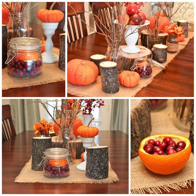 Thanksgiving table decor fall pinterest Thanksgiving table decorations