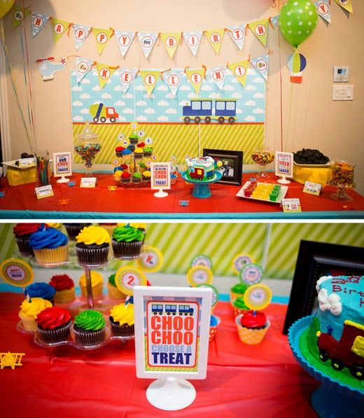 ... car truck dump truck helicopter air plane party boy first 1st birthday