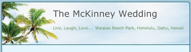 The McKinney Wedding - Live, Laugh, Love.... Waialae Beach Park, Honolulu, Oahu, Hawaii