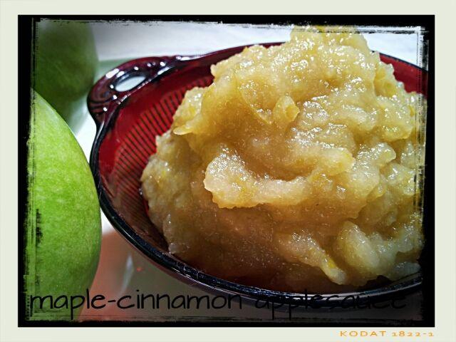 Maple Cinnamon Apple Sauce | food to try | Pinterest