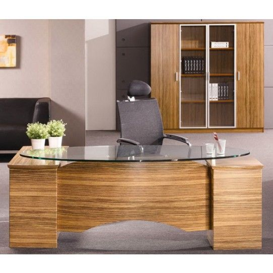 Executive Office Table With Glass Top : Prosparae Executive Desk with Glass Top  Home office  Pinterest