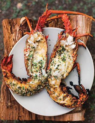 Grilled Lobster with Garlic-Parsley Butter - this is what's for dinner ...
