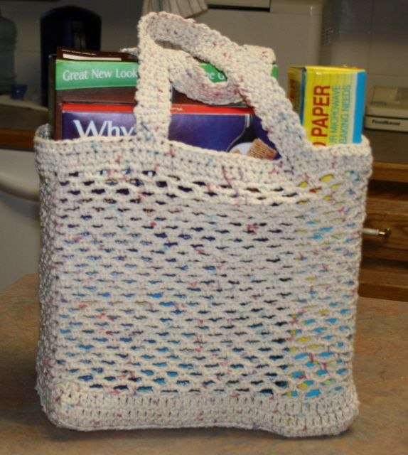 free grocery tote bag pattern Crochet Pinterest