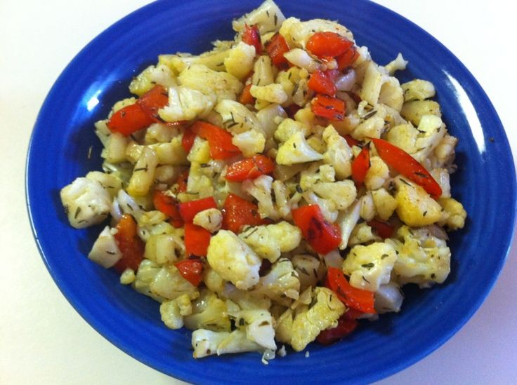 Roasted Cauliflower & Red Peppers | Veggies | Pinterest