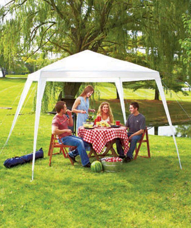 Patio Canopy Pavilion Party Tent Backyard Weddings Shelter wBag