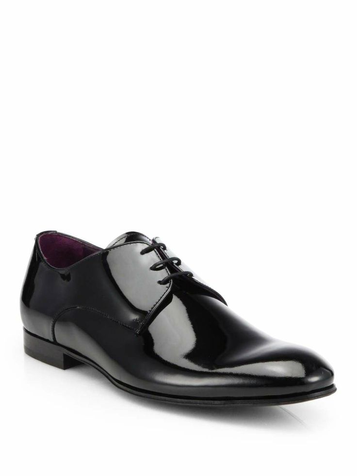 Vernice Patent Leather Tuxedo Shoes on Wantering | Red Carpet Awards