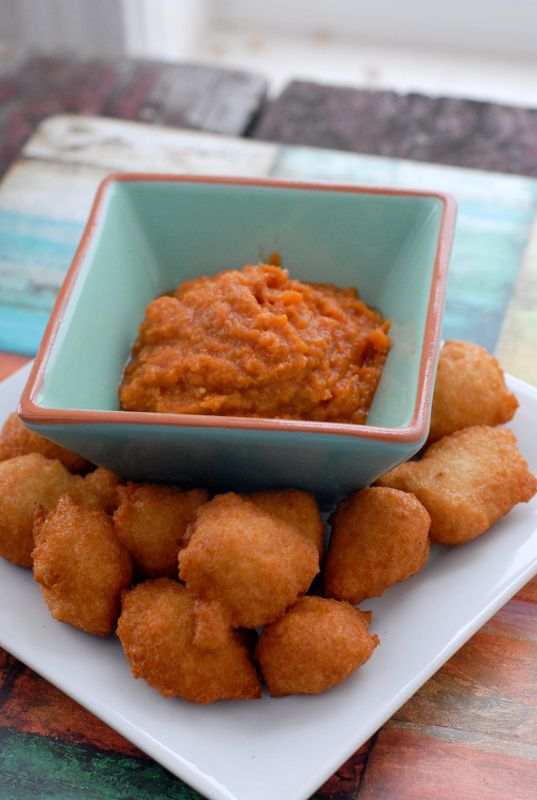 Black Eyed Pea Fritters with Hot Sauce. New Year Good Luck ...