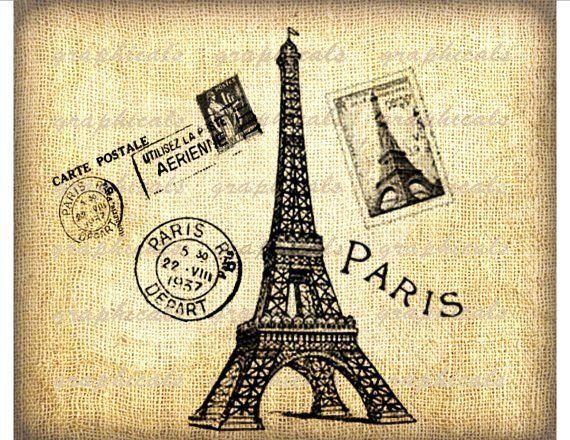 Vintage Paris Printable Art Pinterest