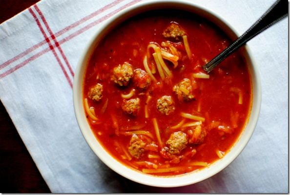 Spaghetti and Meatball Soup   Recipes   Pinterest