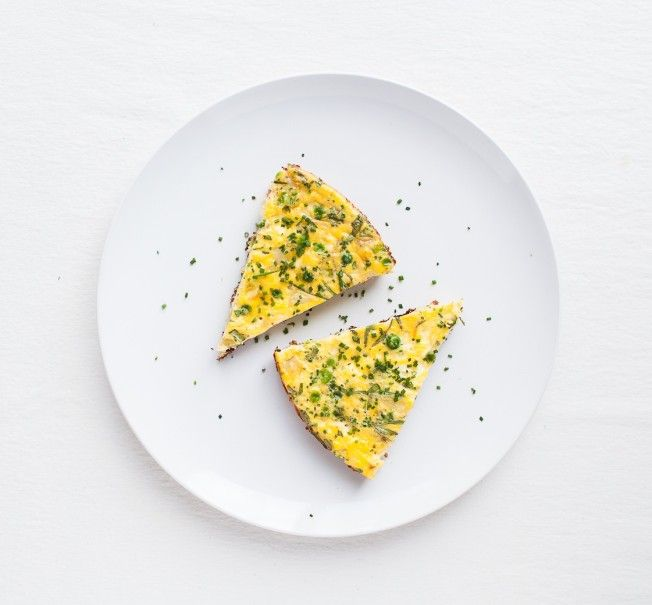 Frittata with Peas, Ricotta & Herbs | Eats | Pinterest