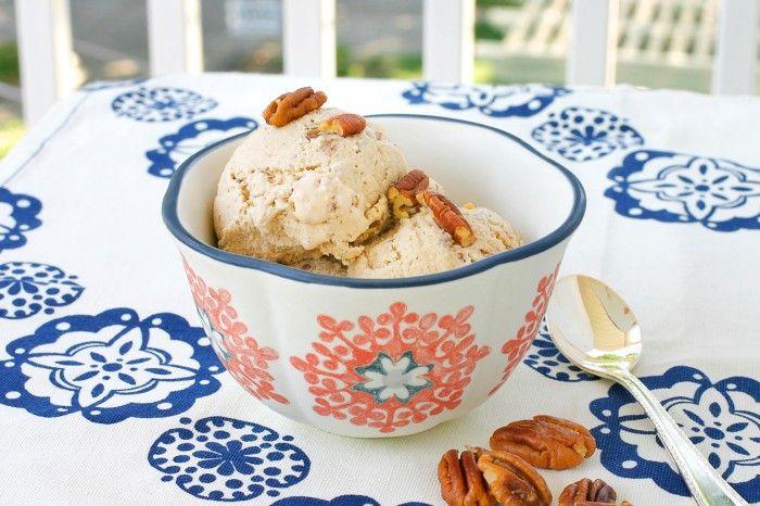 Butter Pecan Brandy Ice Cream Recipe — Dishmaps