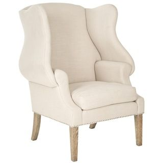 Safavieh Kameron Taupe Wing Back Chair | Overstock.com Shopping - Great Deals on Safavieh Chairs