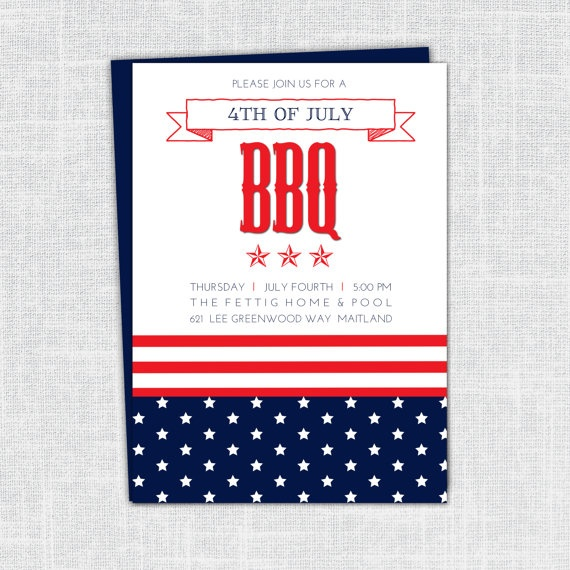 july 4th party invitation wording