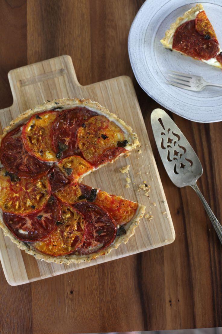 Tomato Tarts With Basil And Fresh Goat Cheese Recipe — Dishmaps