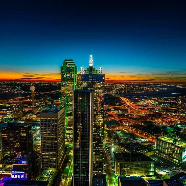 Downtown Dallas-Taken from Thanksgiving tower facing west.