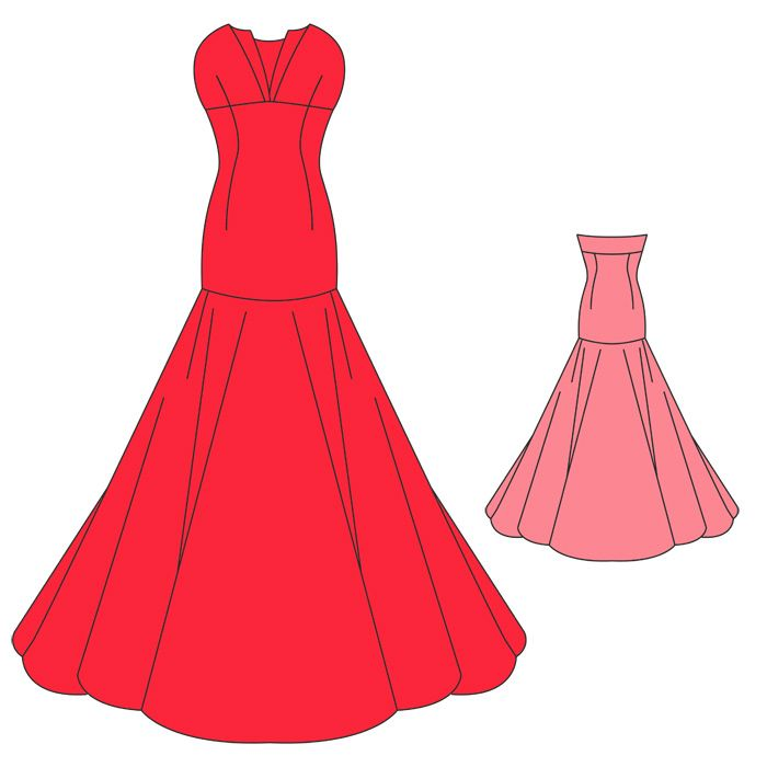 Evening dresses sewing patterns free plus size masquerade dresses