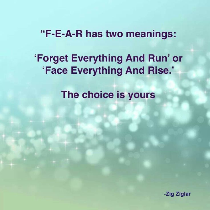 fear has two meanings inspiring quotes poetry