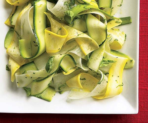 Zucchini & Yellow Squash Ribbons With Daikon, Oregano & Basil Recipes...