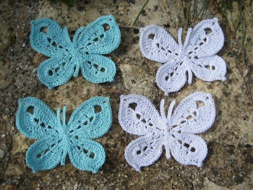 Crochet butterfly pattern Crafts! Pinterest