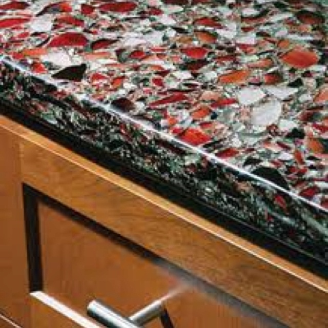 Recycled Countertops : would much rather have recycled glass countertops than granite ...