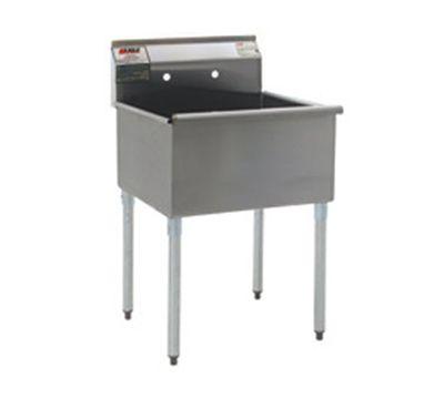 Galvanized Utility Sink : Group 2124-1-16/4-1X Utility Sink - 1-Bowl & 8