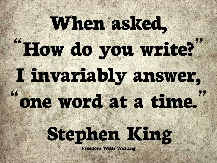 Stephen king style of writing