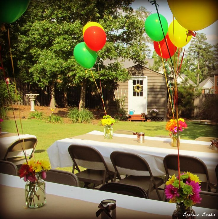 Backyard graduation party graduation party ideas pinterest for Backyard party decoration ideas