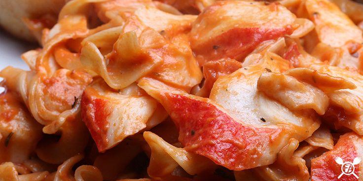 Crab pasta.