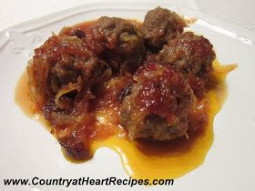 German Style Meatballs -- these make great appetizers too