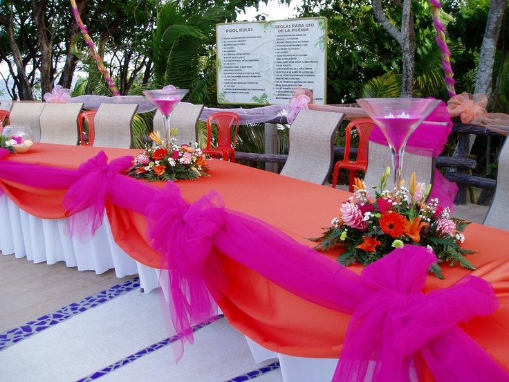Quinceanera Head Table Decorations Photograph Image Home D