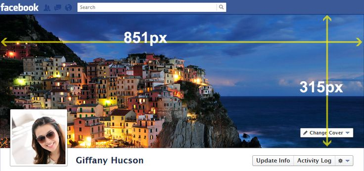 Facebook cover size guide   Photoshop Actions   Pinterest