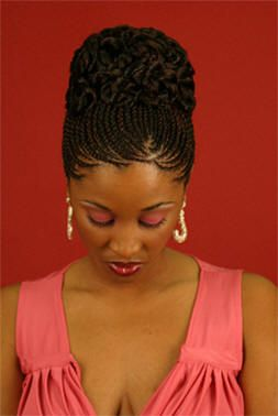 Cornrow Pinup I Love Hair!! Pinterest - Ghana Braids Updo Hairstyles