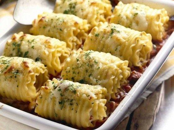 Chicken Lasagna Roll Ups | Food | Pinterest