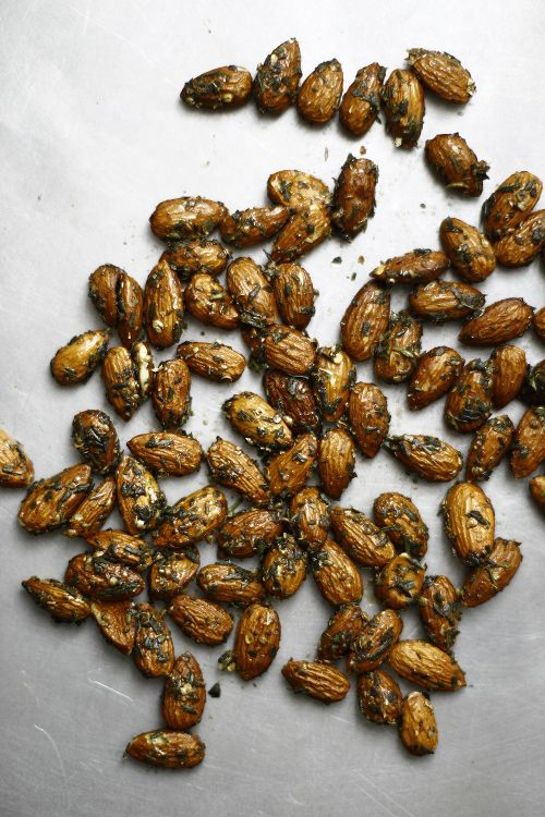 Savory roasted almonds gives me the idea to not only try to cook some ...
