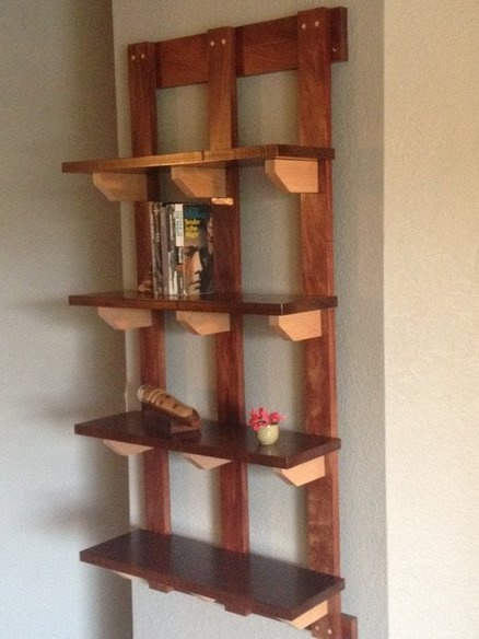 Hanging bookshelf for the home pinterest for Hanging bookshelves