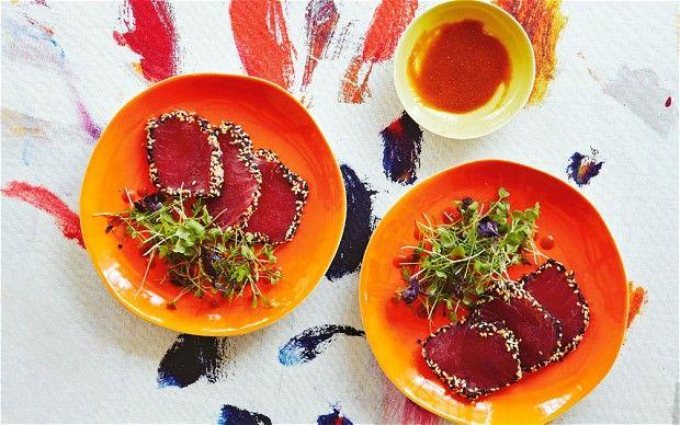 ... sirloin steak with hatcho miso; miso soup with enoki mushrooms & tofu