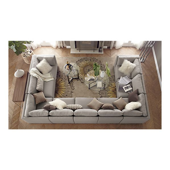 Moda Sectional Sofa, Cosmo Rug I Crate and Barrel