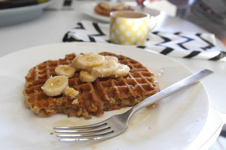 banana nut waffles | Breakfast Delicious Treats | Pinterest