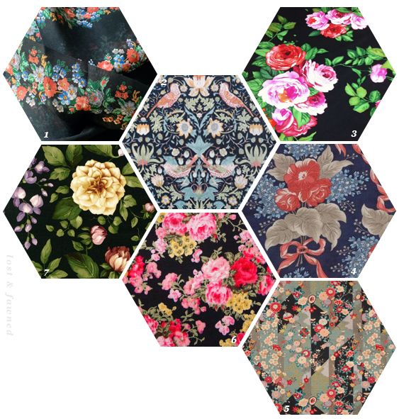 Dark Floral Fabrics - Spring 2014