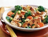 Chicken cashew stir fry | Low carb | Pinterest