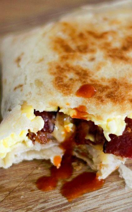 Copycat taco bell bacon a m crunchwrap recipe