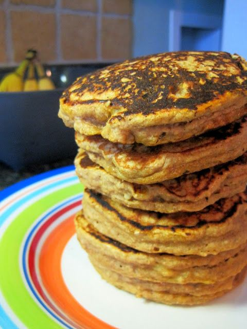 Brown Sugar Banana Bread Pancakes!! I see brinner on the menu for this ...