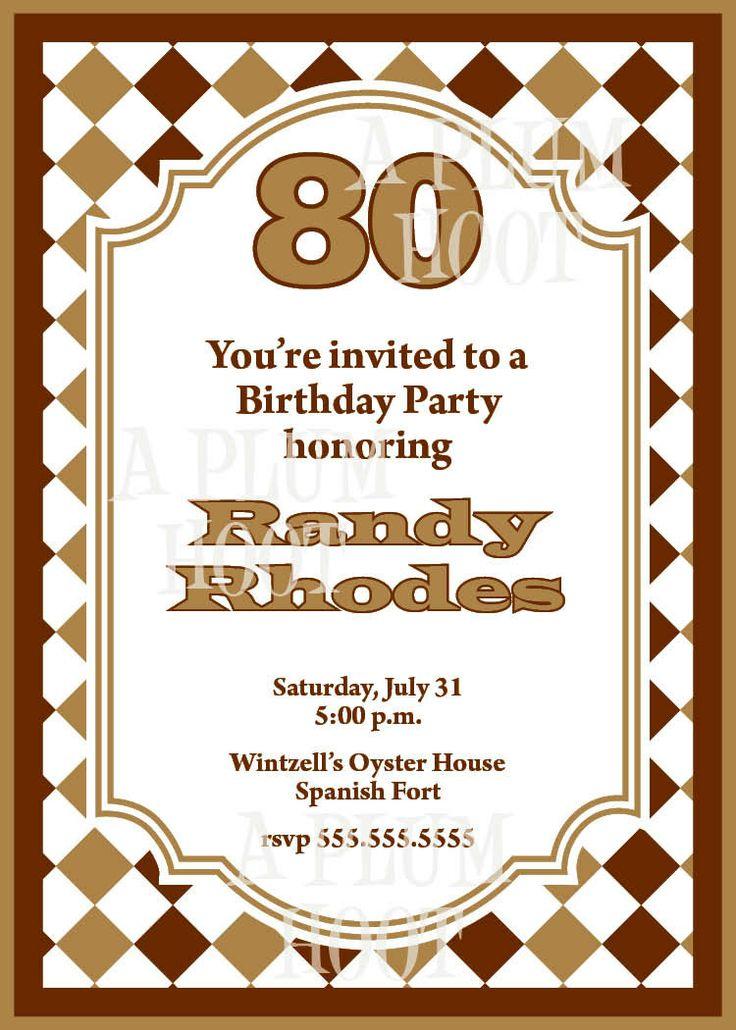 80th birthday invitations templates free etamemibawa 80th birthday invitations templates free filmwisefo Choice Image