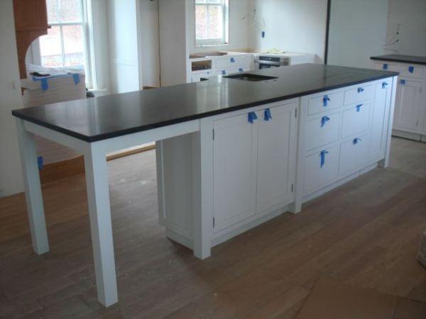 Honed Black Granite Countertop Kitchens Pinterest