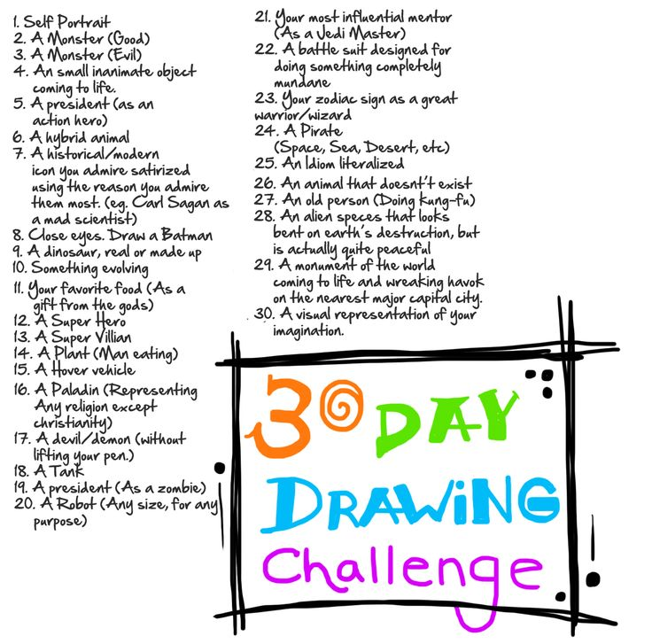 30 Day Drawing Challenege!!
